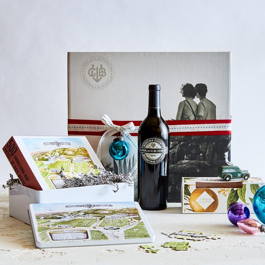 picture of products from a winery gift box