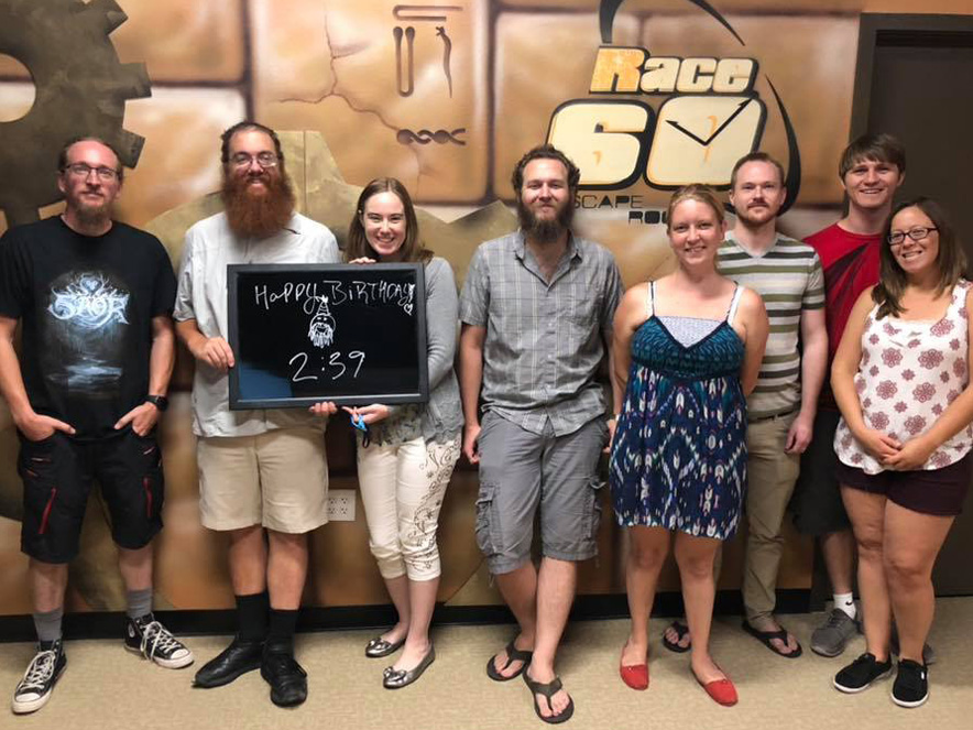 Photo of Escape Room players at EscapeRace60