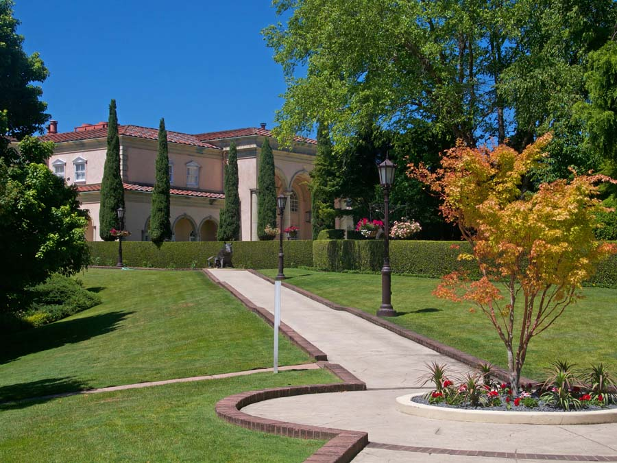 Ferrari-Carano Winery and garden