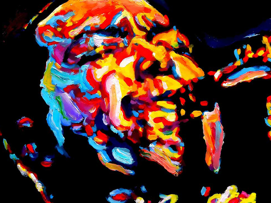 abstract image of Charlie Parker