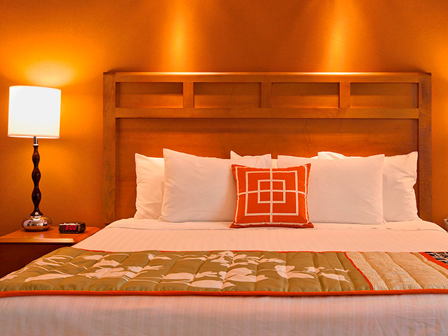 A comfy bed at the Fairfield Inn & Suites Santa Rosa Sebastopol