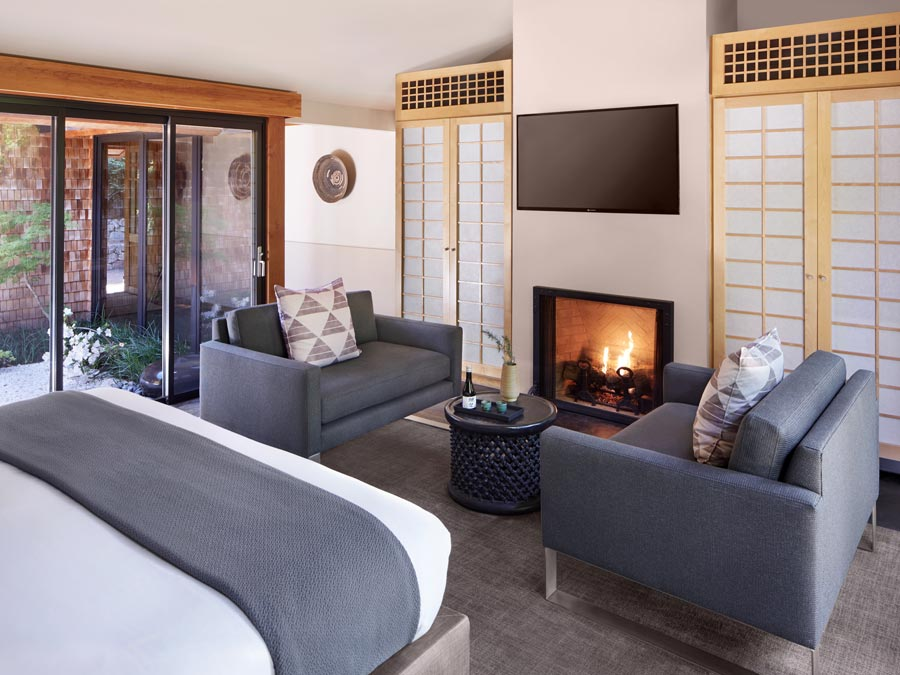 The Zen suite at the Gaige House + Ryokan, Glen Ellen
