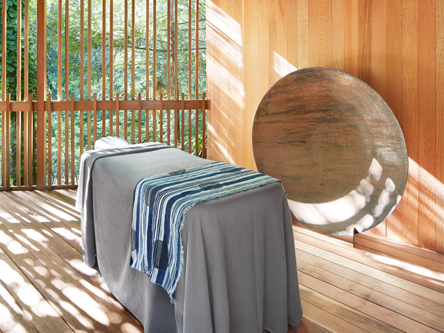 Massage table at Gaige House + Ryokan in Glen Ellen