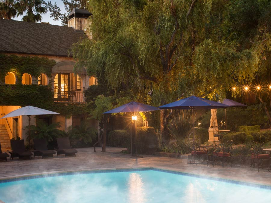 Stem rises off the luxurious pool at the Kenwood Inn and Spa, Sonoma County
