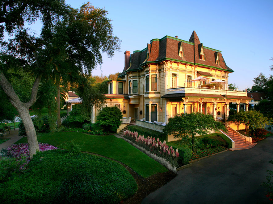 Madrona Manor: Romantic, historic inn; an acclaimed restaurant; and a site for wine country garden weddings.