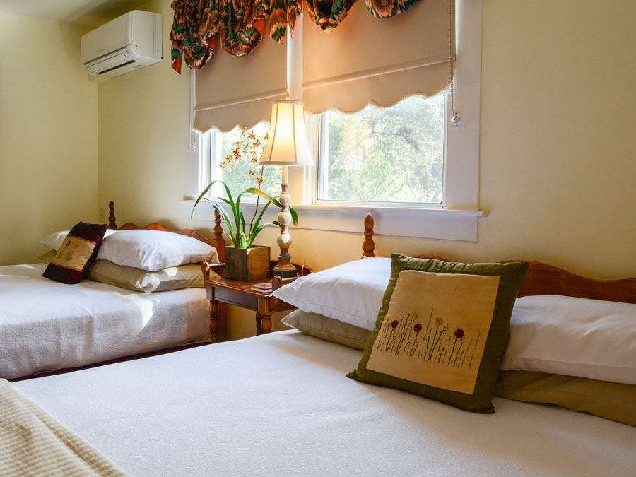 The lovingly decorated rooms are ready at the Sonoma Orchid Inn, Guerneville