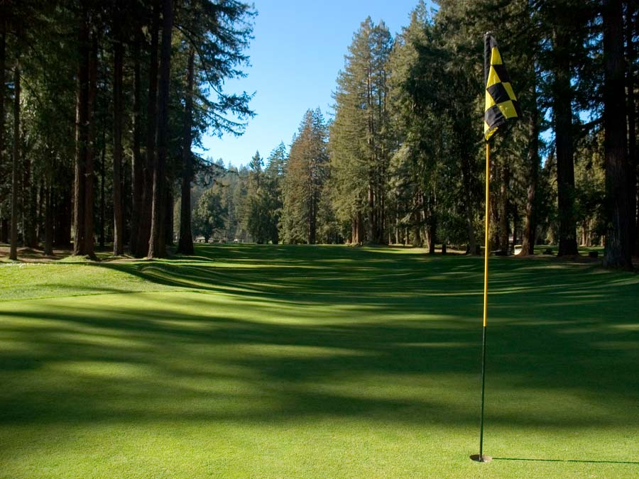Northwood Golf Club is surrounded by redwood trees in Monte Rio, Sonoma County