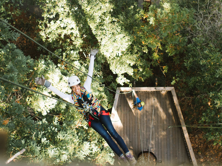Ziplining at Sonoma Canopy Tours in Guerneville in Sonoma County