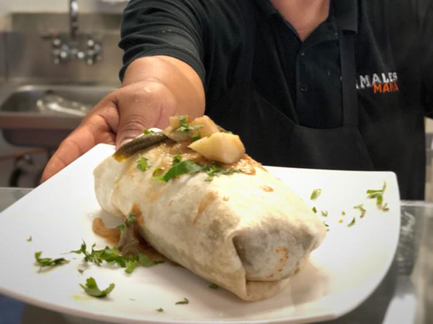 image of burrito from cocina mana in sonoma county