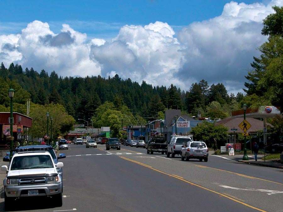 Main Street in downtown Guerneville