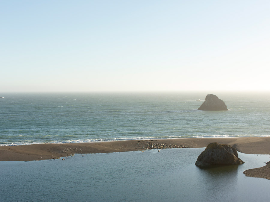 Where the Russian River meets the Pacific Ocean, Jenner