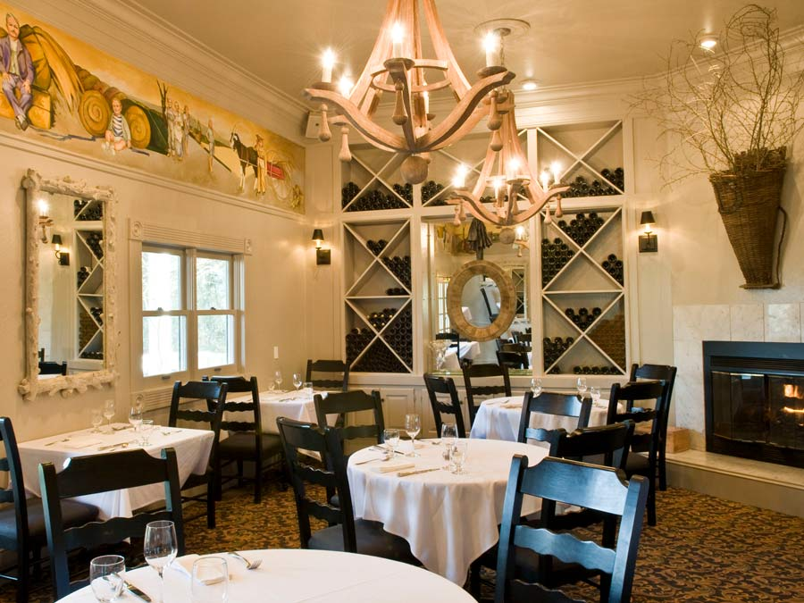 The interior of the dining room at Farmhouse Inn & Restaurant