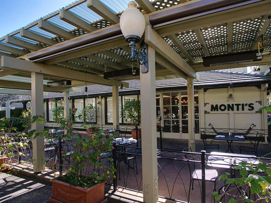 The patio at Monti's in Montgomery Village, Santa Rosa