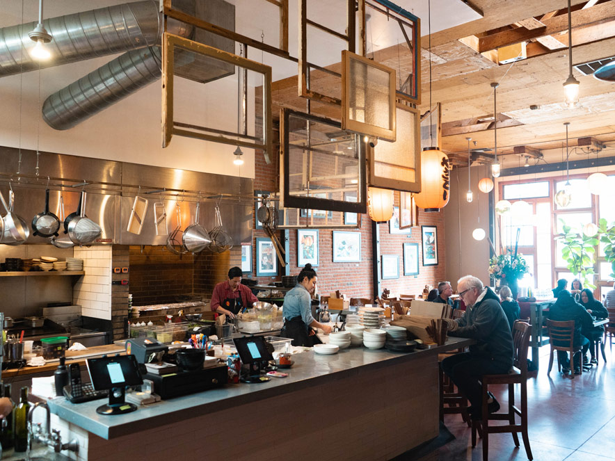 Interior view of Ramen Gaijin in Sebastopol in Sonoma County