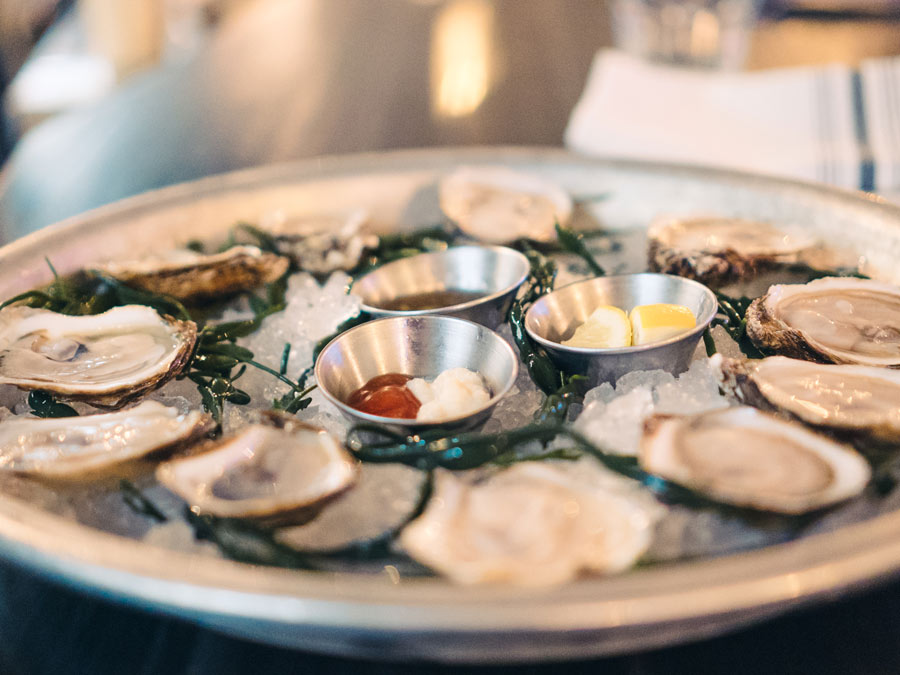 A dozen oysters served at the The Shuckery, Sonoma County