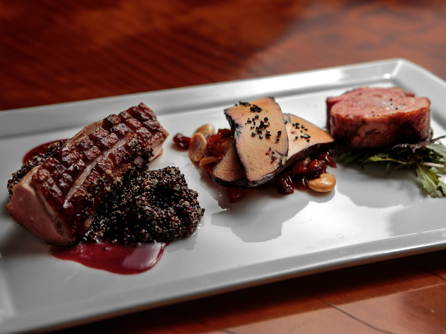 Liberty Duck Trio is served at Valette, Healdsburg