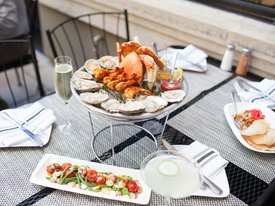 A plate of seafood and ceviche ready to be enjoyed in Sonoma County