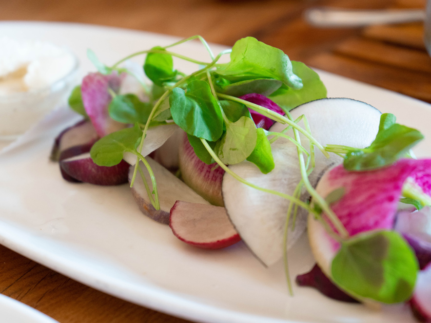 fresh farm to table food at Girl and the fig in Sonoma County