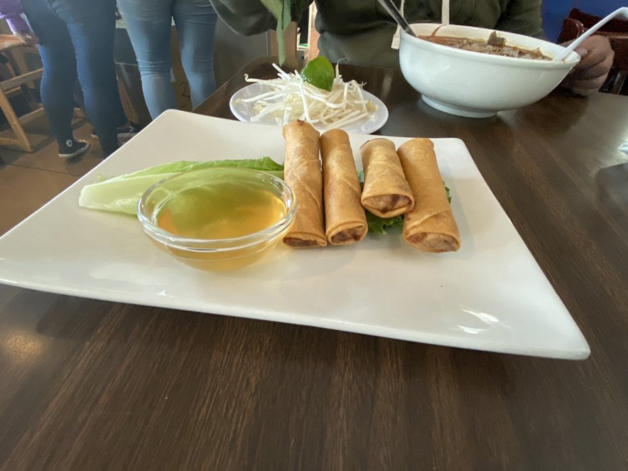 egg rolls at Pho Ha in Sonoma County