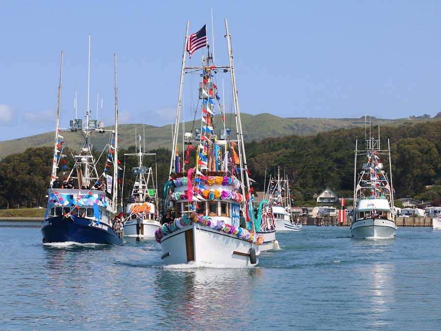 The blessing of the fleet at the Bodega Bay Fisherman's Festival, Sonoma County
