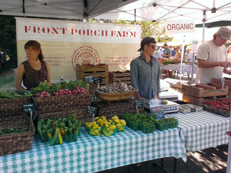 Faremers sell their vegetables at the Healdsburg Farmers Market