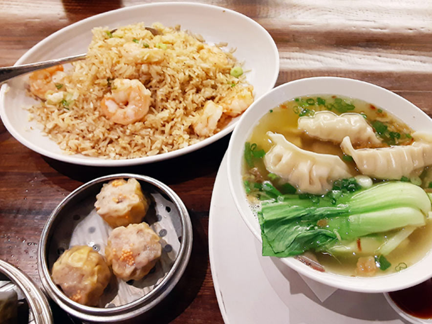 fried rice and shumani soup