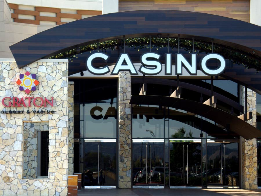 The modern entrance to the Graton Resort & Casino, Rohnert Park