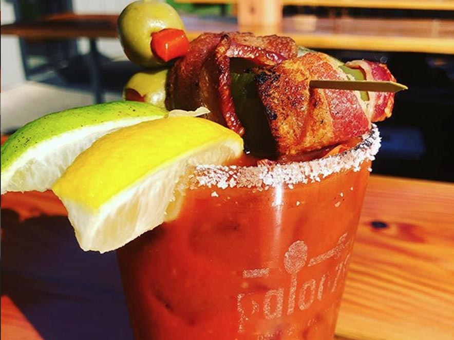 Image of a bloody mary from Palooza in Kenwood.