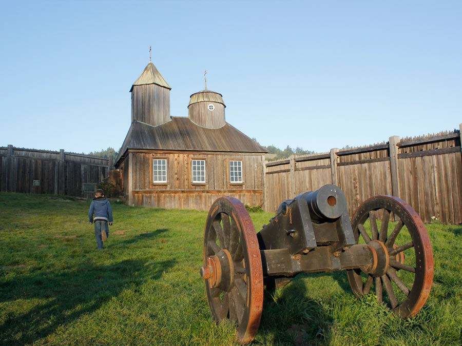 A child enjoys the history at Fort Ross State Historic Park, Jenner
