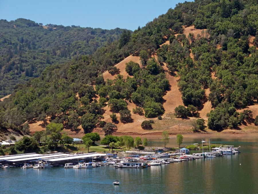 Boats in the marina at Lake Sonoma Recreation Area, Sonoma County