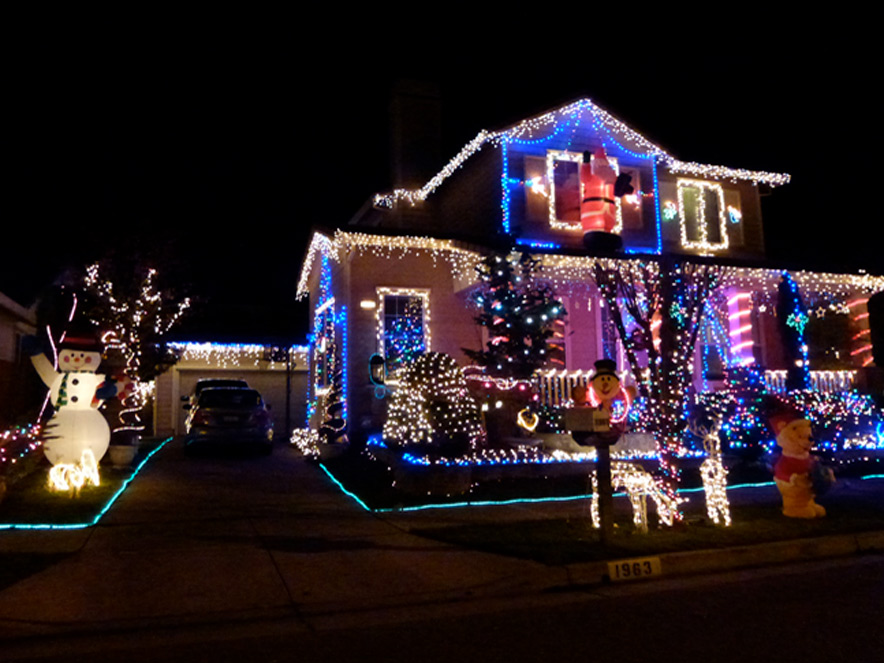 house with lights in sonoma county