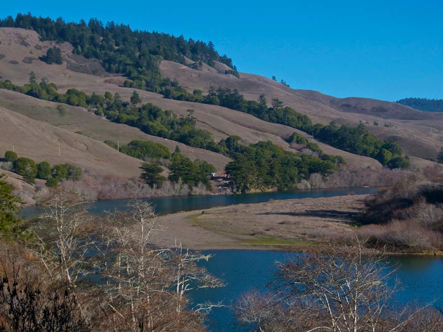The Russian River at Duncans Mills, Sonoma County