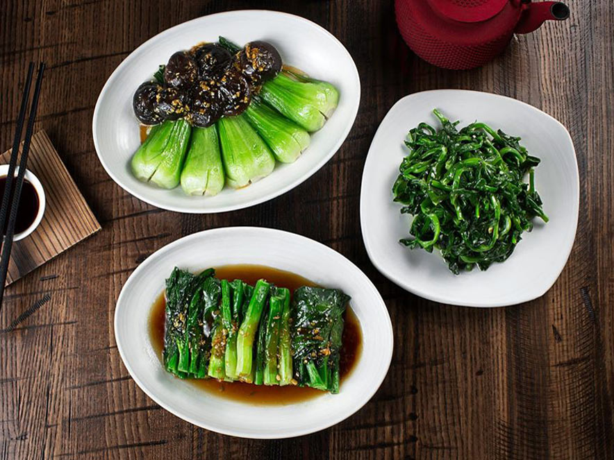 sauteed green vegetables in Sonoma County