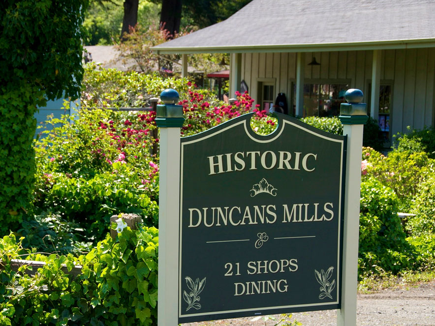 Duncan Mills historic sign in Sonoma County