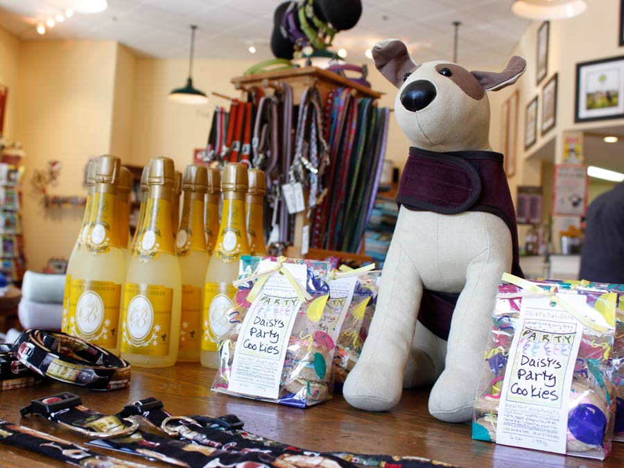 A selection of goodies for your favorite pet at the pet store called Fideaux, Healdsburg