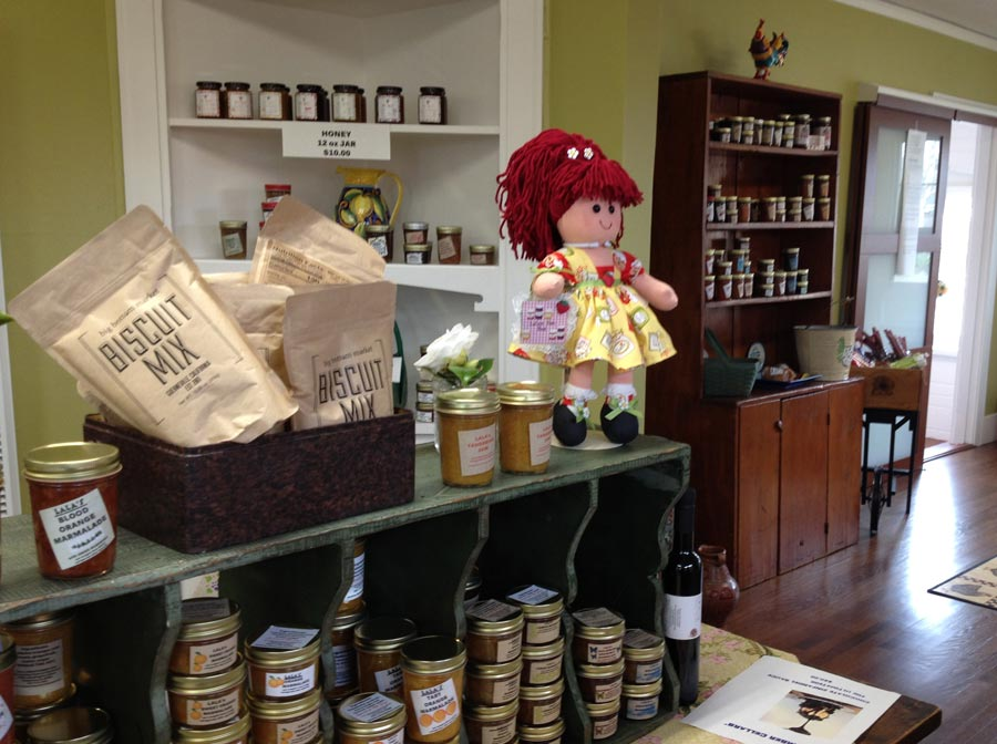 A selection of jams and goodies for sale at Lala's Jam Bar and Urban Farmstand, Sonoma County