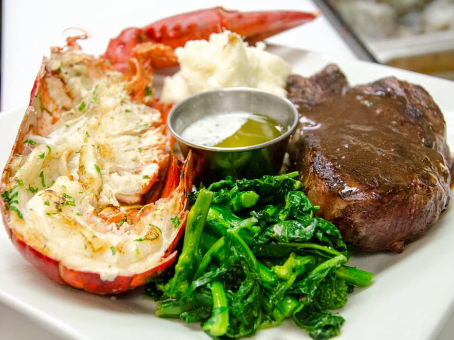 surf and turf at sonoma grille in sonoma county