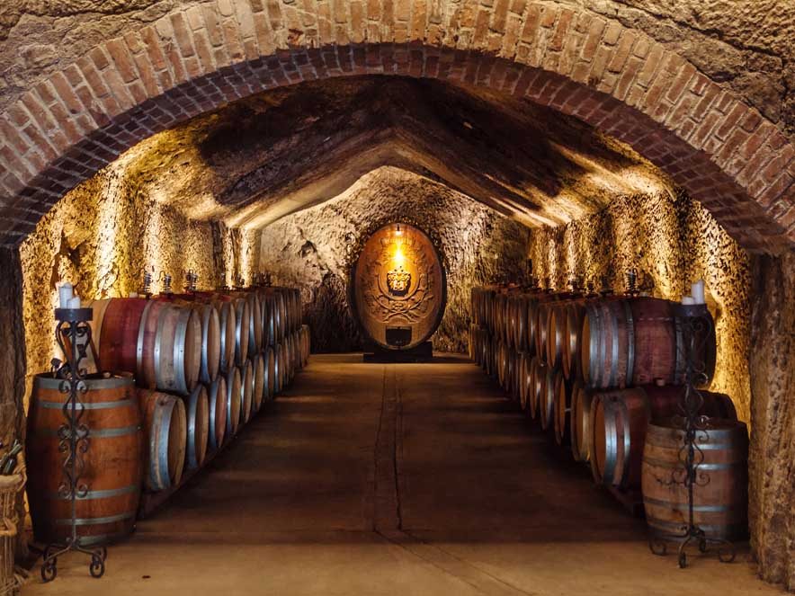 Image of Buena Vista wine cave.