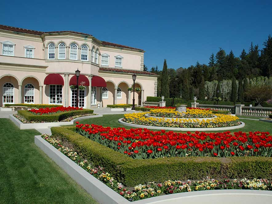 Enjoy the splendid gardens at Ferrari Carano Winery