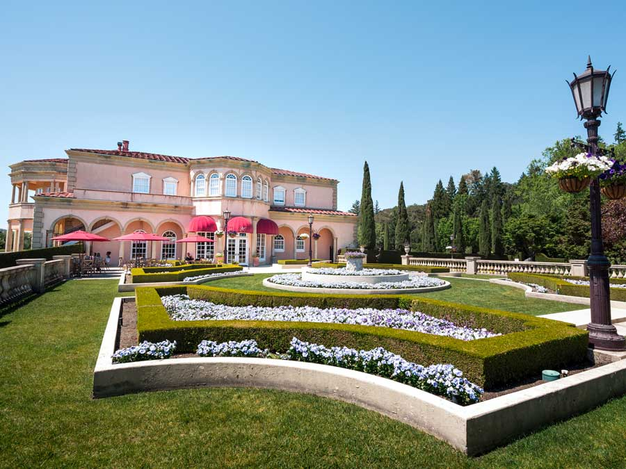The Italian-style chateau of Ferrari-Carano Vineyards and Winery, Healdsburg
