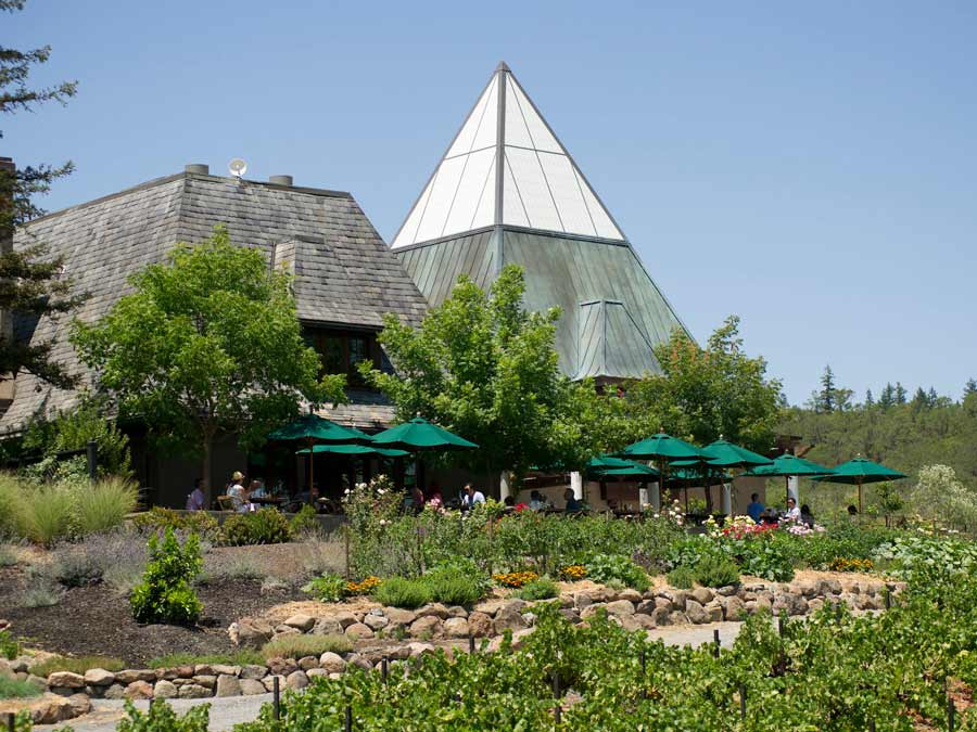 The exterior of Francis Ford Coppola Winery