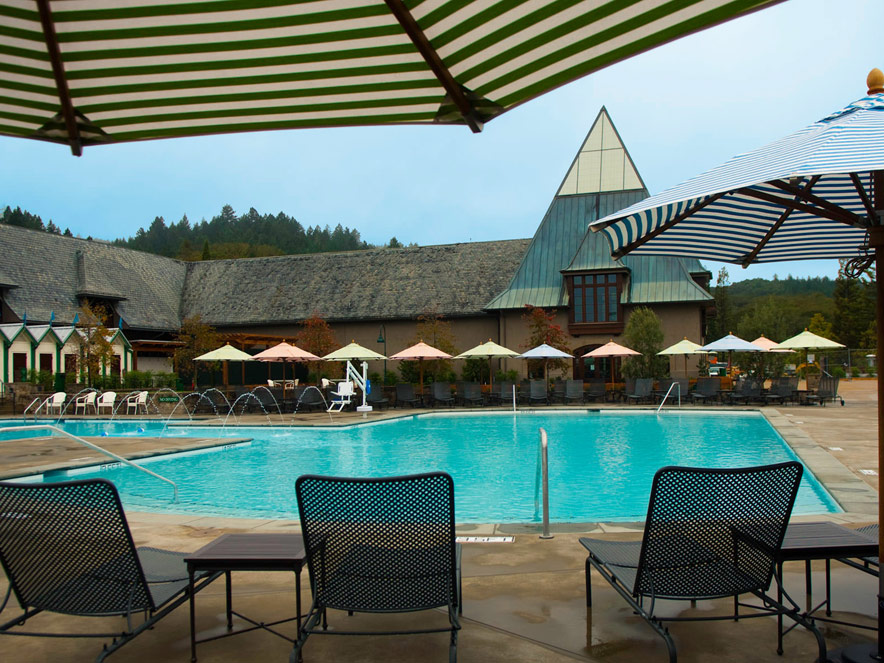 Poolside photo of Francis Ford Copollo Winery in Sonoma County