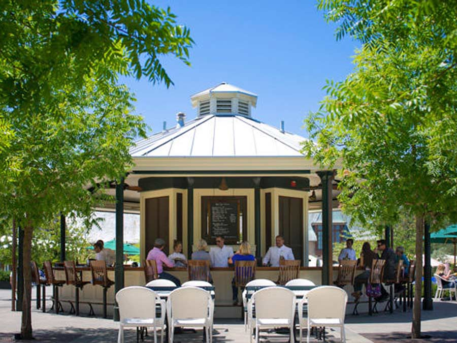 Grab a seat at the poolside cafe at Francis Ford Coppola Winery, Geyserville