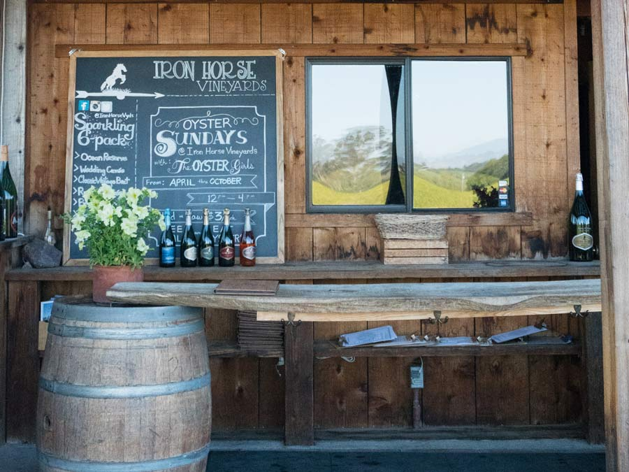 The tasting barn at Iron Horse Vineyards, Sebastopol