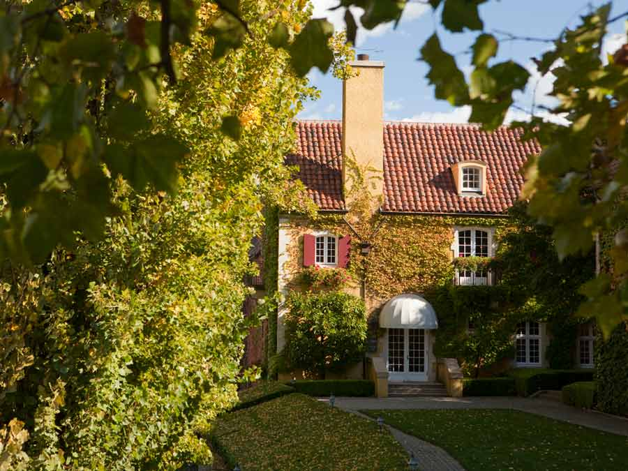 The ivy-covered chateau at Jordan Vineyard & Winery, Healdsburg