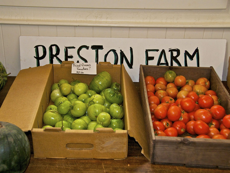 Produce from Preston Farm and Winery