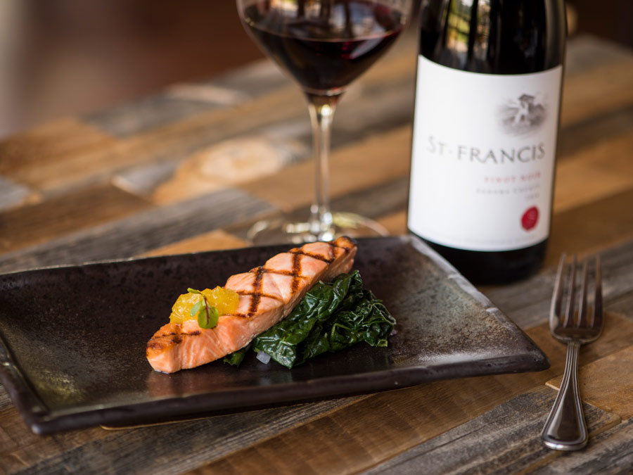 A food and wine pairing at St. Francis Winery & Vineyards, Santa Rosa