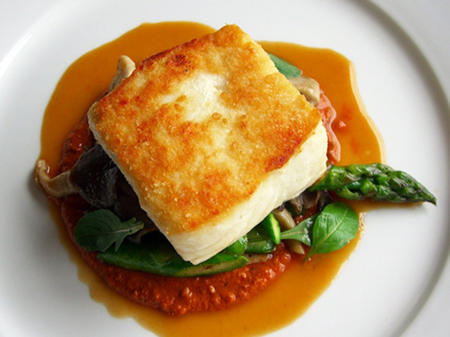 Halibut dish at Terrapin Creek