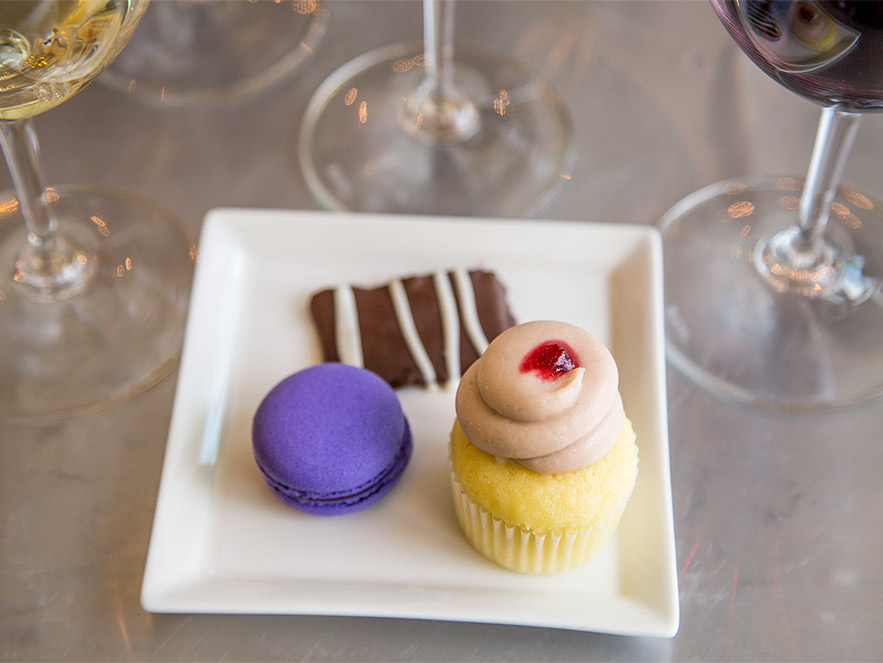 Delicious wine and dessert pairings on the Savor Healdsburg Food Tour