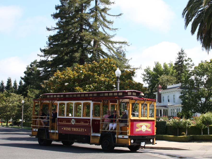 Image of Wine Trolley in Sonoma Valley.